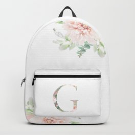 G - Floral Monogram Collection Backpack