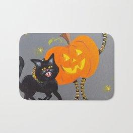 Jack and Black Cat Bath Mat