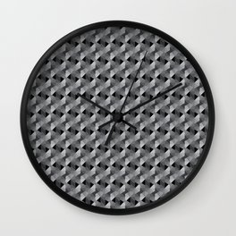 Abstract Hexagon Pattern Wall Clock