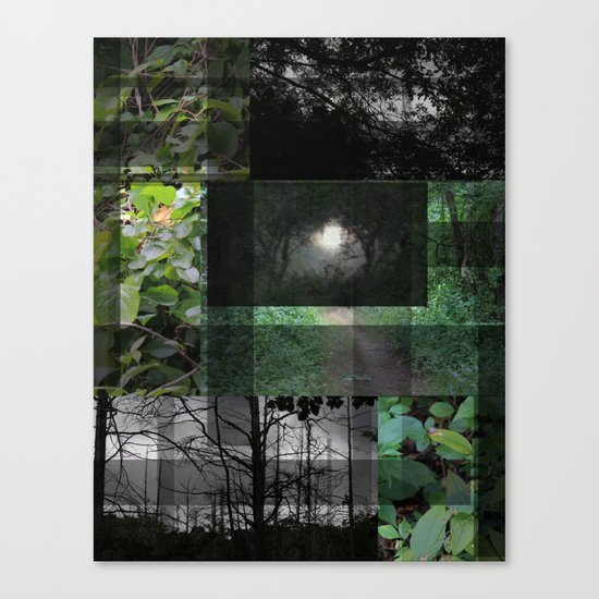 Forest Night /Dusk At Kensington Canvas Print