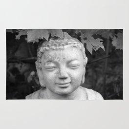 Buddha black and white photo, photographed village in Oberaudorf (Bavaria), 2013 Rug