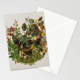 Camo Chihuahua Forest Adventure Stationery Cards