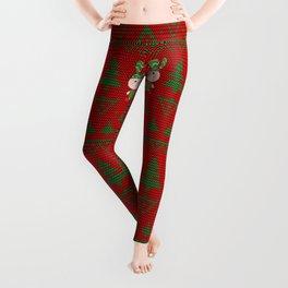 Knitted pattern Christmas Bunny Leggings
