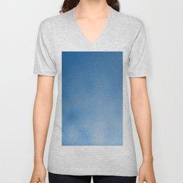 Snorkel blue ombre gradient with bokeh texture Unisex V-Neck