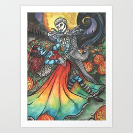 King and Queen of Halloween Art Print