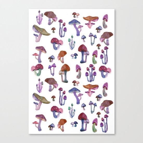 mushrooms everywhere Canvas Print