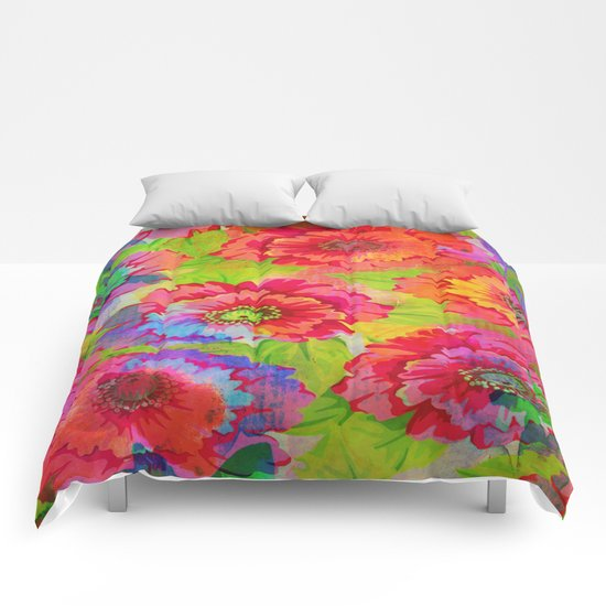fresh and vivid floral Comforters