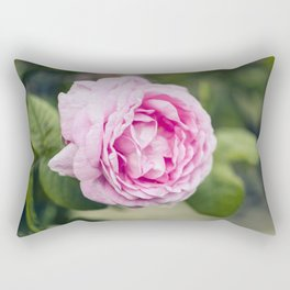 Soft pink tea rose flower Rectangular Pillow