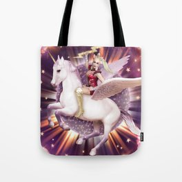 Andora: Drag Queen Riding a Unicorn Tote Bag