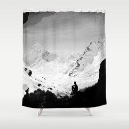 Snowy Isolation Shower Curtain