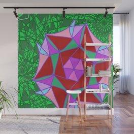 Pink Digital Jungle Rose Wall Mural
