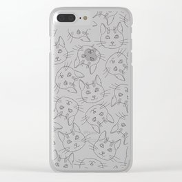 Hello Cats // Lots of Cats Clear iPhone Case