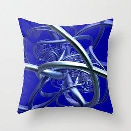 metal crazy pipes Throw Pillow