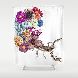 Floral Scorpion Shower Curtain