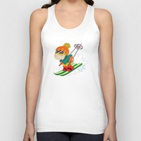 skiing Tank Tops featuring Winter Sports: Skiing by Alapapaju