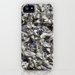 Shucked Oyster Shells iPhone Case
