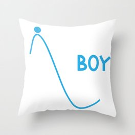 Science Boy I'm a Boy With a Lot of Potential Throw Pillow