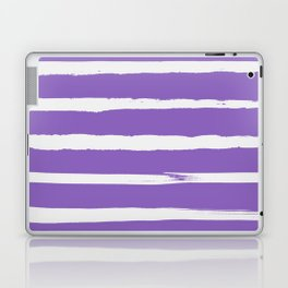 Irregular Hand Painted Stripes Purple Laptop & iPad Skin
