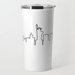 One Line - New York Skyline Travel Mug