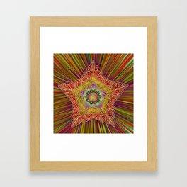 Vintage Star Aura-Holiday Bright Framed Art Print