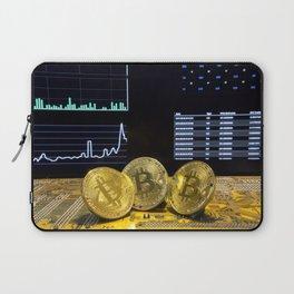 Bitcoin trio circuit market charts clean Laptop Sleeve