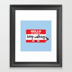 The Red Badge of Discourage Framed Art Print