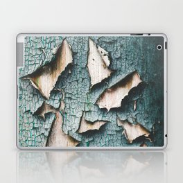Rustic old light blue green peeling paint Laptop & iPad Skin