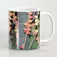 indonesia Mugs featuring coffee plant (Bali, Indonesia) by Christian Haberäcker - acryl abstract