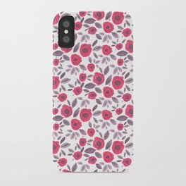 Pink & Purple Blooms iPhone Case