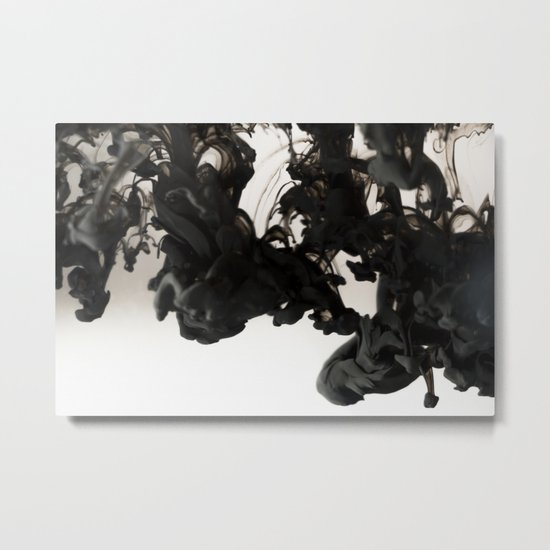 Ink #abstract #black Metal Print