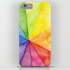 Rainbow Watercolor Geometric Pattern Slim Case iPhone 6 Plus