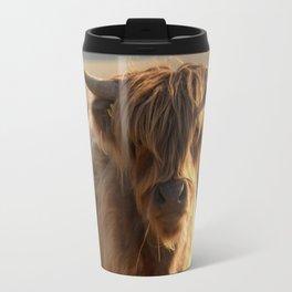 Young Highland Cow Travel Mug