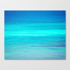 The Turquoise Sea Canvas Print