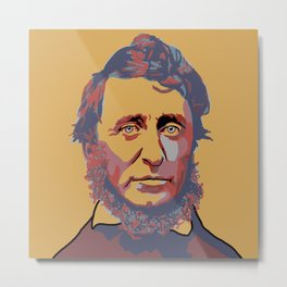 Henry David Thoreau Metal Print