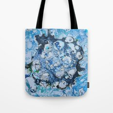 Marbled Blue Universe Tote Bag