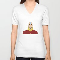 aang V-neck T-shirts featuring AANG by Danielle Ebro