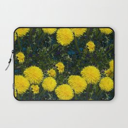 LOVE FIRST SPRING YELLOW DANDELIONS Laptop Sleeve