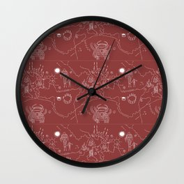 Twin Peaks Owl Cave Petroglyph Map Wall Clock