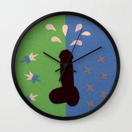 Felt Penis: Seeing Stars Wall Clock