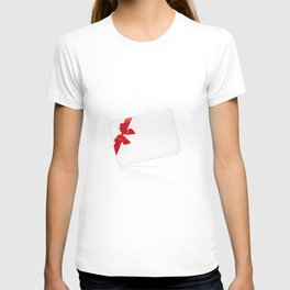 Card with red bow T-shirt