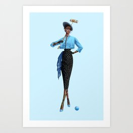 Croquet and Ink Six Art Print