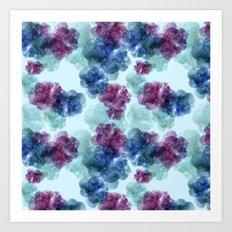 Mixed berries pattern Art Print