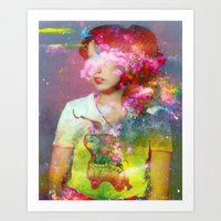 tchmo Art Prints featuring Untitled 20110314e (Dana) by tchmo