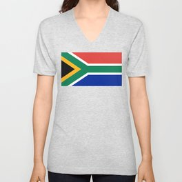 South African flag of South Africa Unisex V-Neck