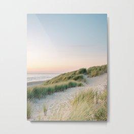 Dunes of Holland | Sunset travel photography | Pastel fine art beach print Metal Print