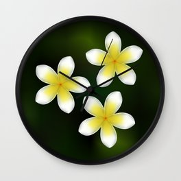 Frangipani from beautiful Bali Wall Clock
