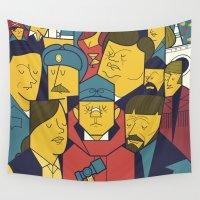 ale giorgini Wall Tapestries featuring Fargo by Ale Giorgini