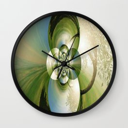 Kaleidoscope Tree Wall Clock