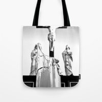 religious Tote Bags featuring Religious aesthetics by Vorona Photography