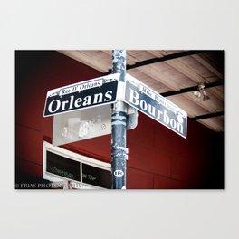 Bourbon and Orleans Canvas Print